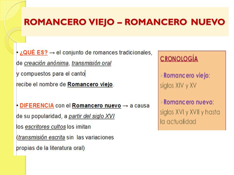 ROMANCERO VIEJO – ROMANCERO NUEVO
