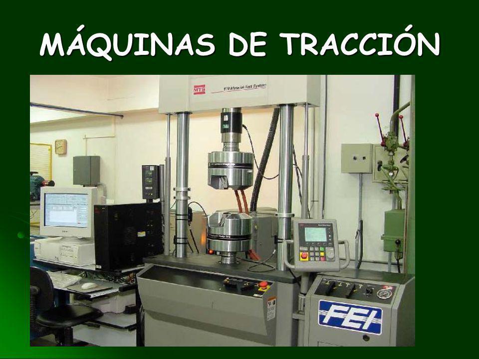 ENSAYO DE TRACCIÓN Es el ensayo destructivo mas importante pues información sobre la resistencia mecánica de los materiales utilizados en el diseño y
