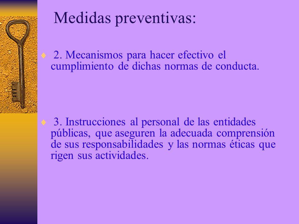 Medidas preventivas: 2.