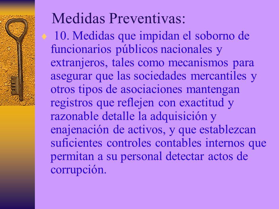 Medidas Preventivas: 10.