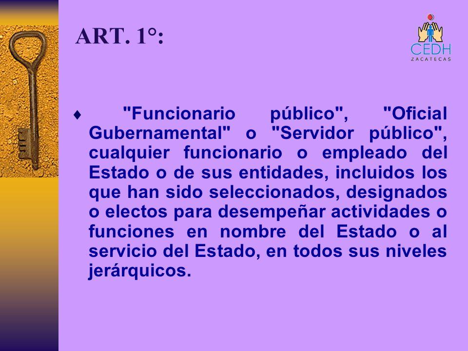 ART. 1°: