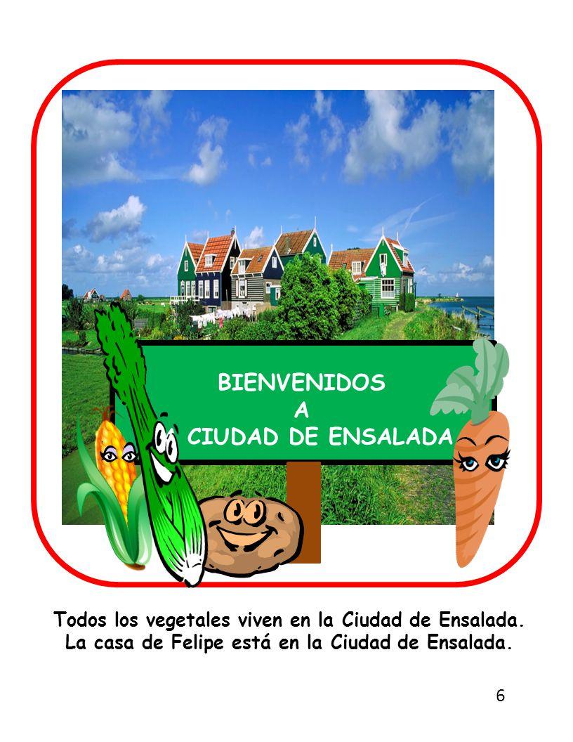Todos los vegetales viven en la Ciudad de Ensalada.