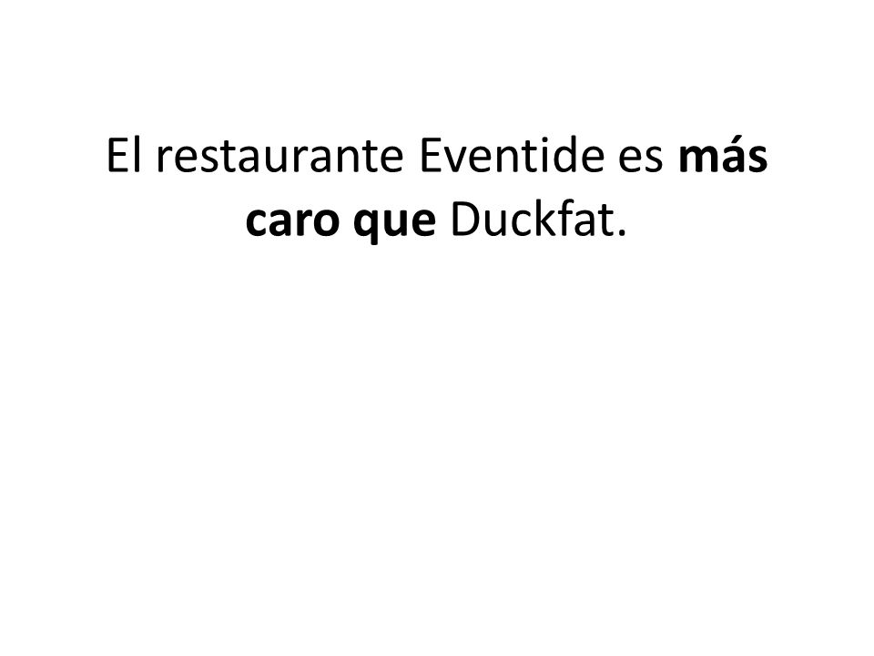 El restaurante Eventide es más caro que Duckfat.