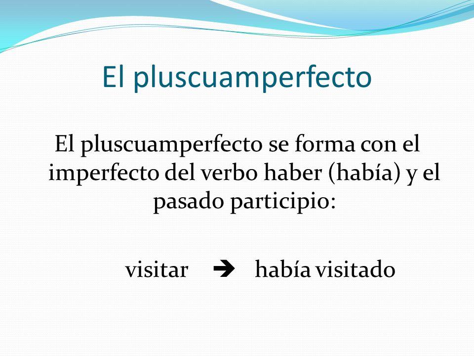 El verbo auxiliar HABER PRESENTE PERFECTO Presente HABER Yo HE TúHAS ÉL/ELLA/UD.HA NOSOTROS HEMOS VOSOTROS HABÉIS ELLOS/ELLAS HAN PLUSCUAMPERFECTO Imp