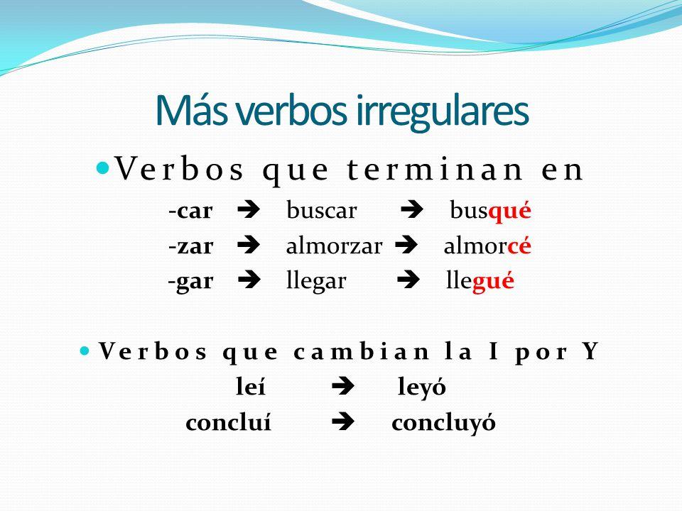 Otros verbos irregulares en el pretérito podertener ponervenir saber satisfacer andardecir estartraer caberproducir hacerquerer podertener ponervenir