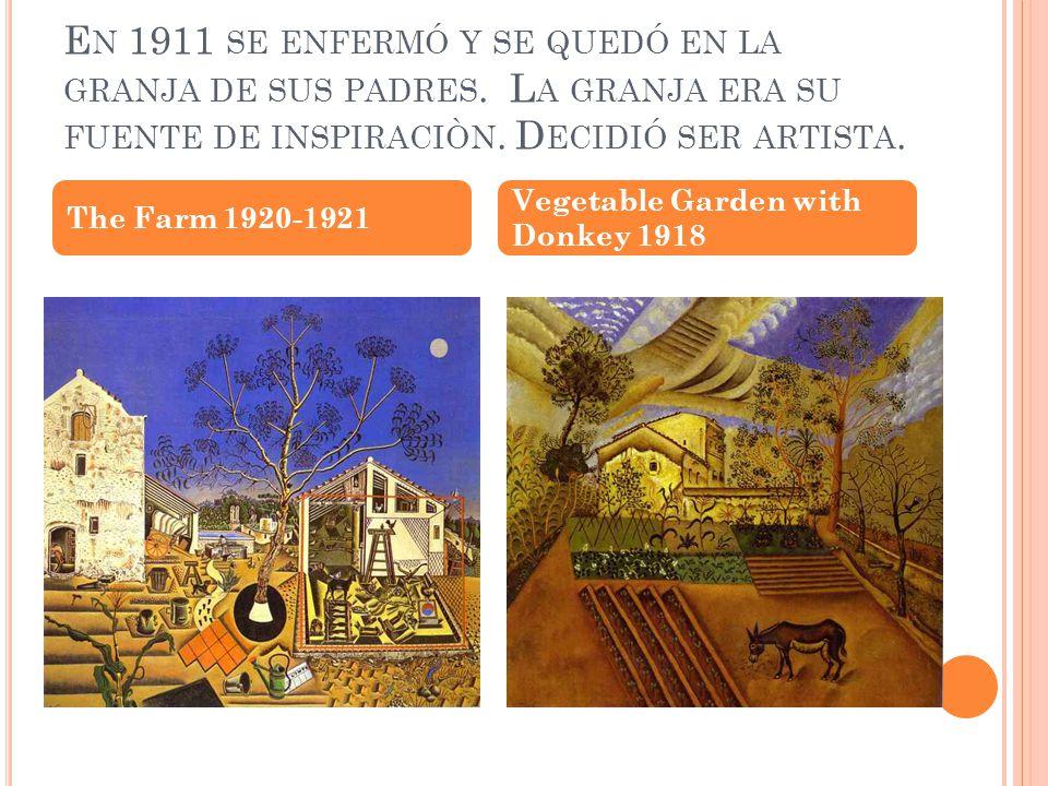 D ESDE 1912 HABÍA ESTUDIADO EN LA ESCUELA DE ARTE F RANCISCO G ALY EN B ARCELONA.