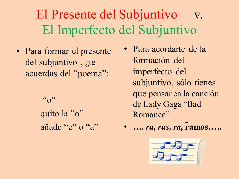 El Presente del Subjuntivo v.