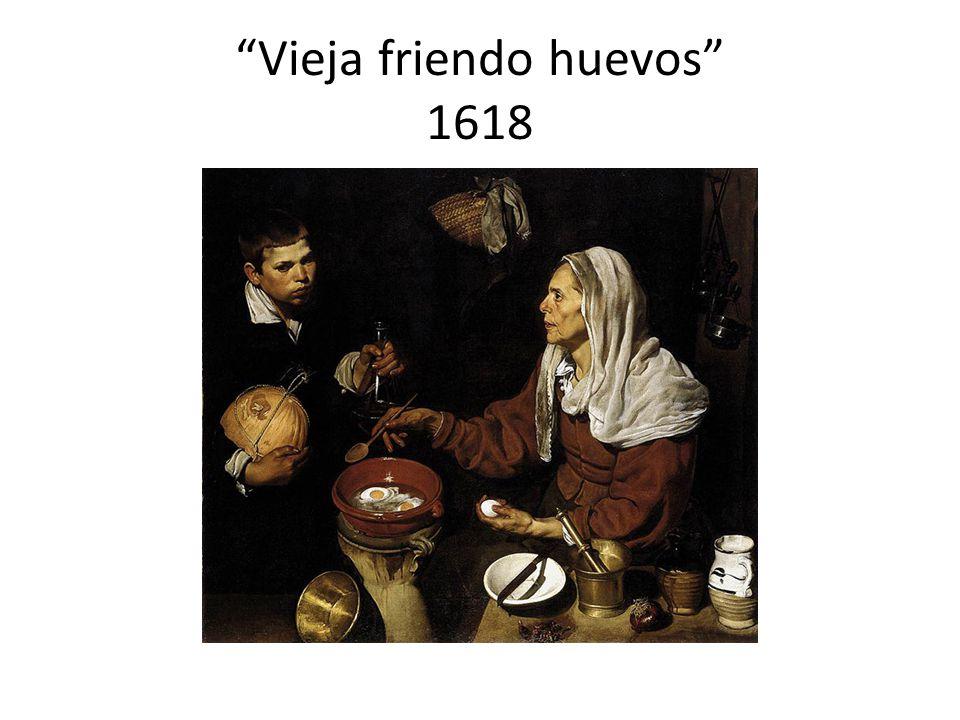 Vieja friendo huevos 1618