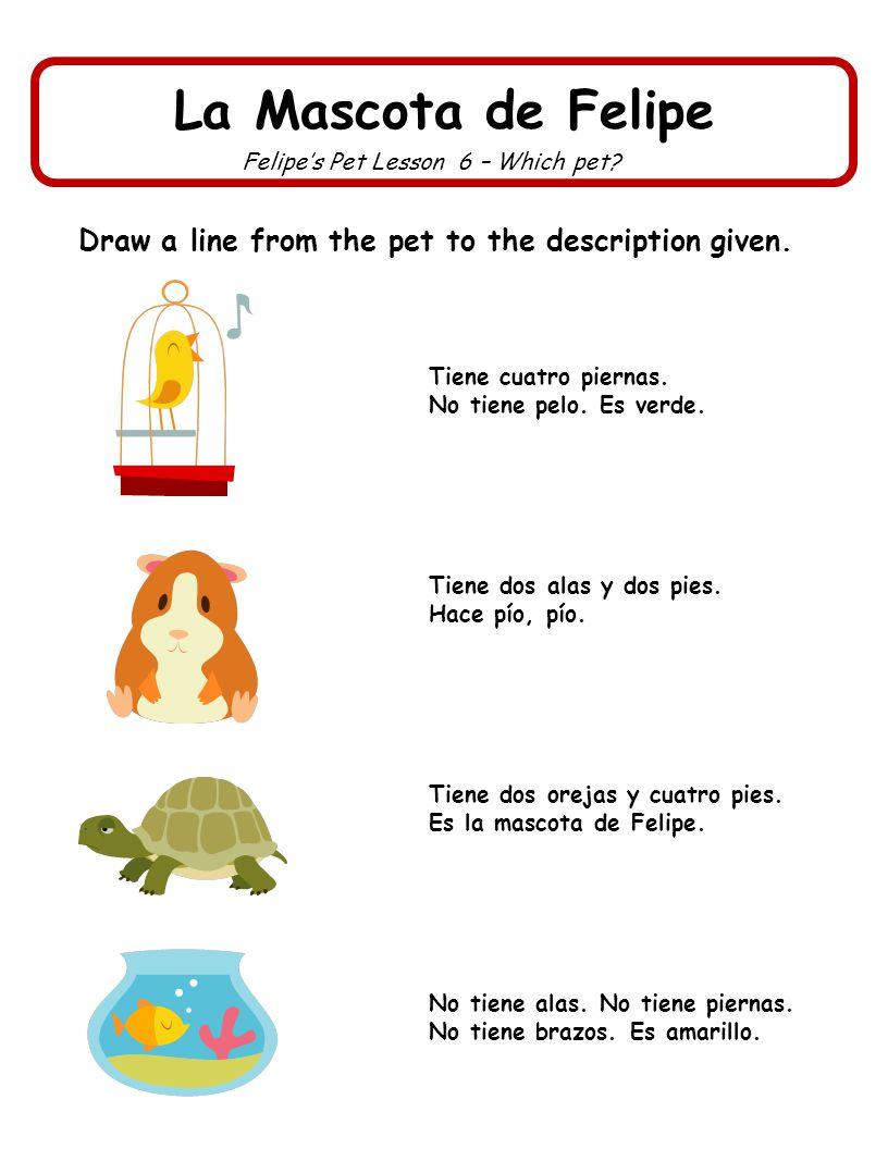 La Mascota de Felipe Felipes Pet Lesson 7 – Who can.