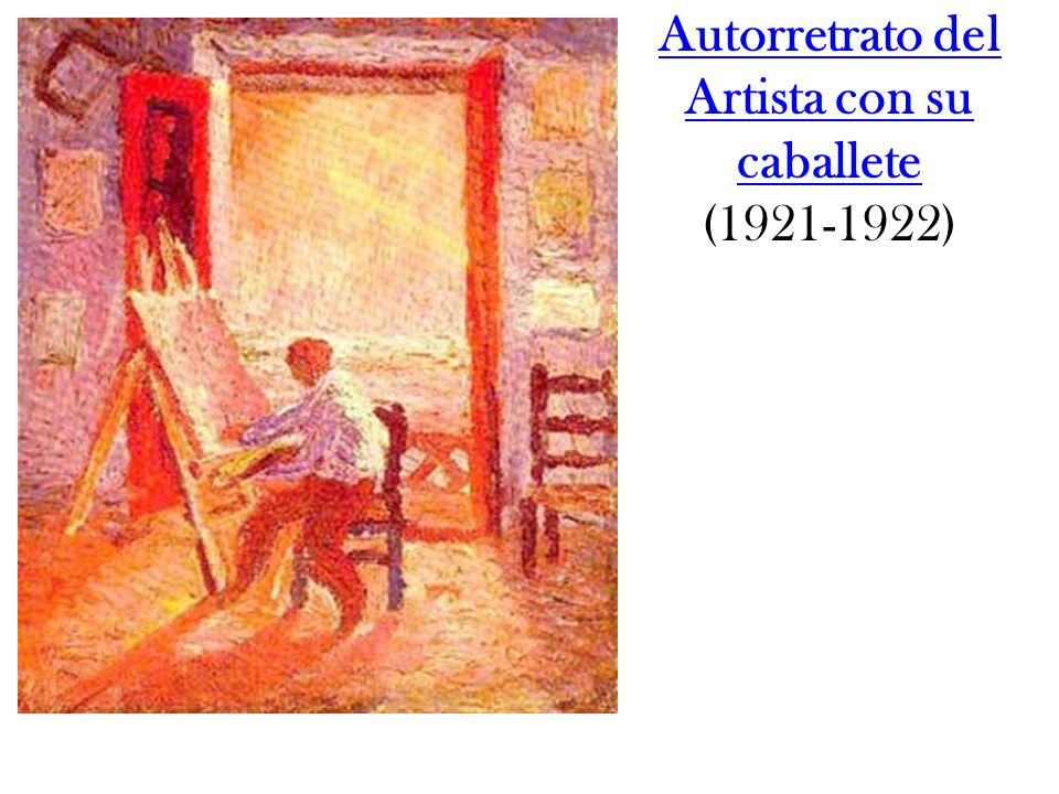 Autorretrato del Artista con su caballete Autorretrato del Artista con su caballete (1921-1922)