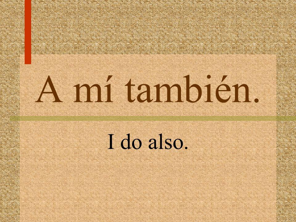 (A mí) me gusta mucho _. I like ___ a lot.
