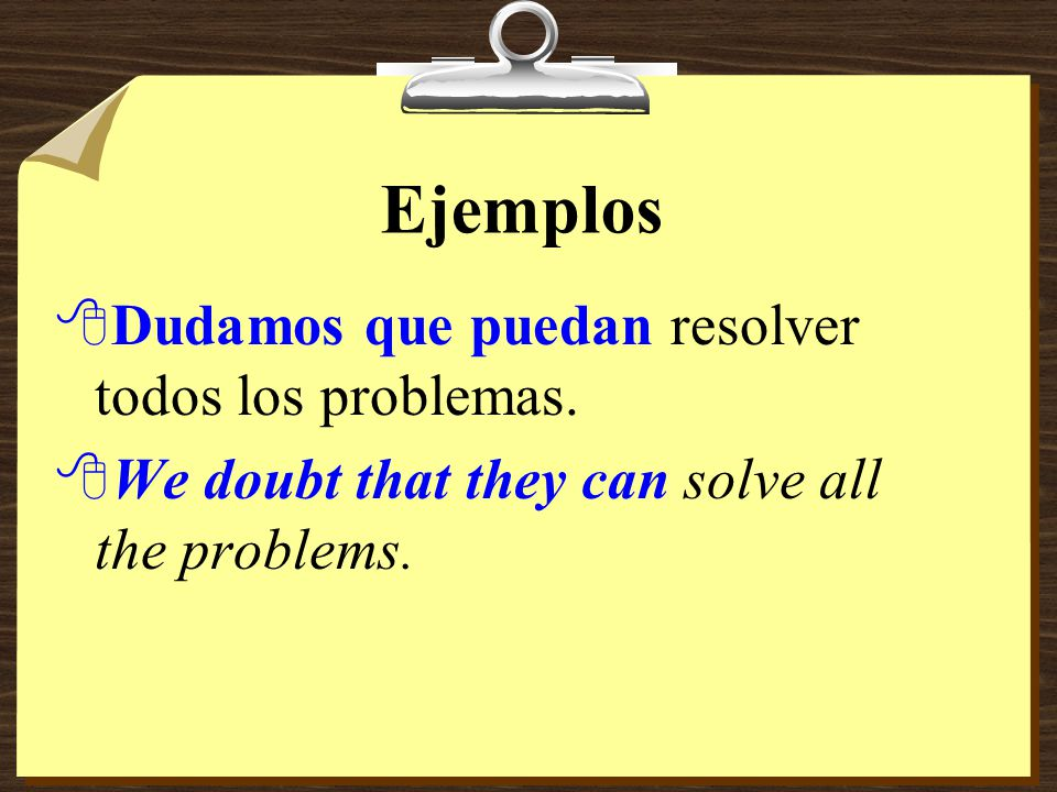 Subjunctive with Doubt 8You have used the subjunctive to say that one person tries to persuade another to do something. 8It is also used after verbs a