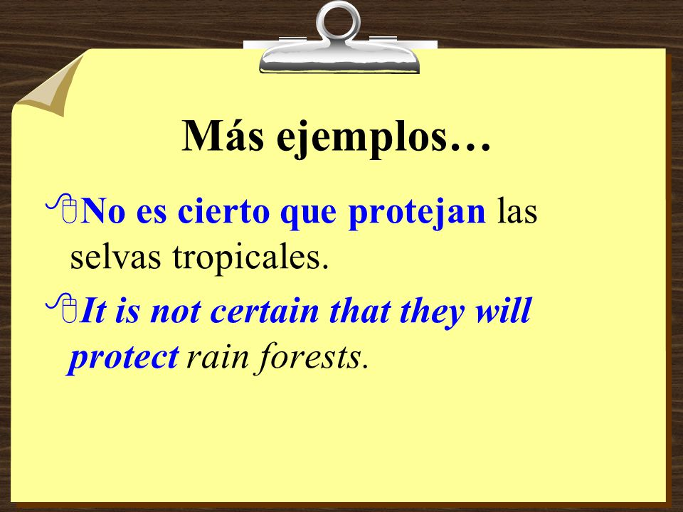 Ejemplos 8Dudamos que puedan resolver todos los problemas. 8We doubt that they can solve all the problems.