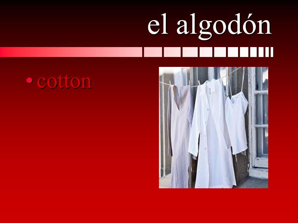 el algodón cottoncotton
