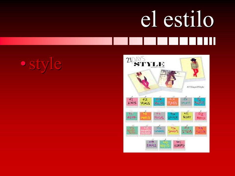 el estilo stylestyle