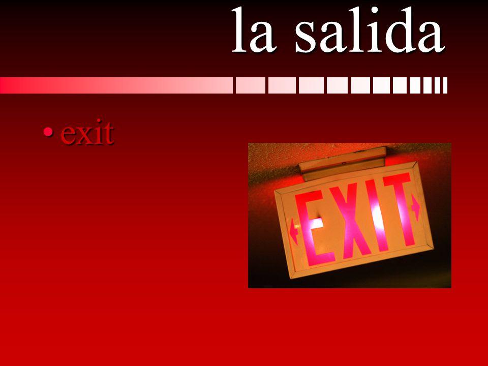 la salida exitexit