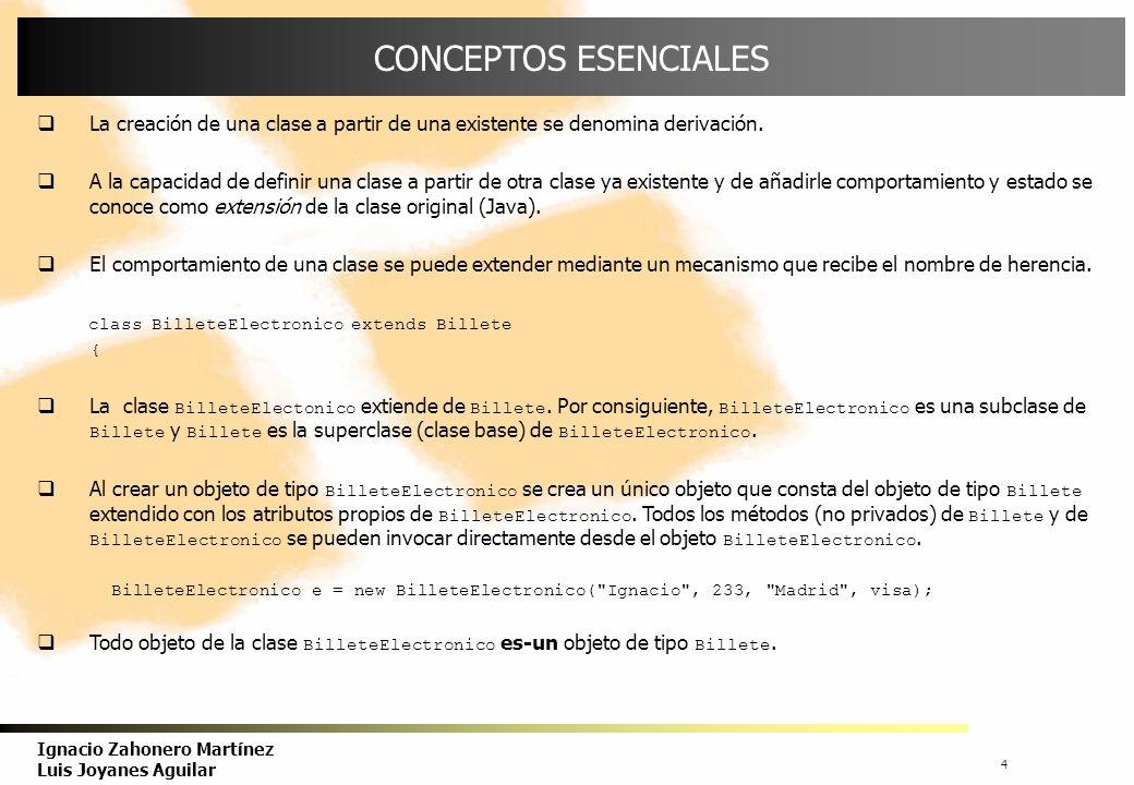 5 Ignacio Zahonero Martínez Luis Joyanes Aguilar HERENCIA Mediante la propiedad de herencia se permite a los objetos ser construidos a partir de otros objetos.