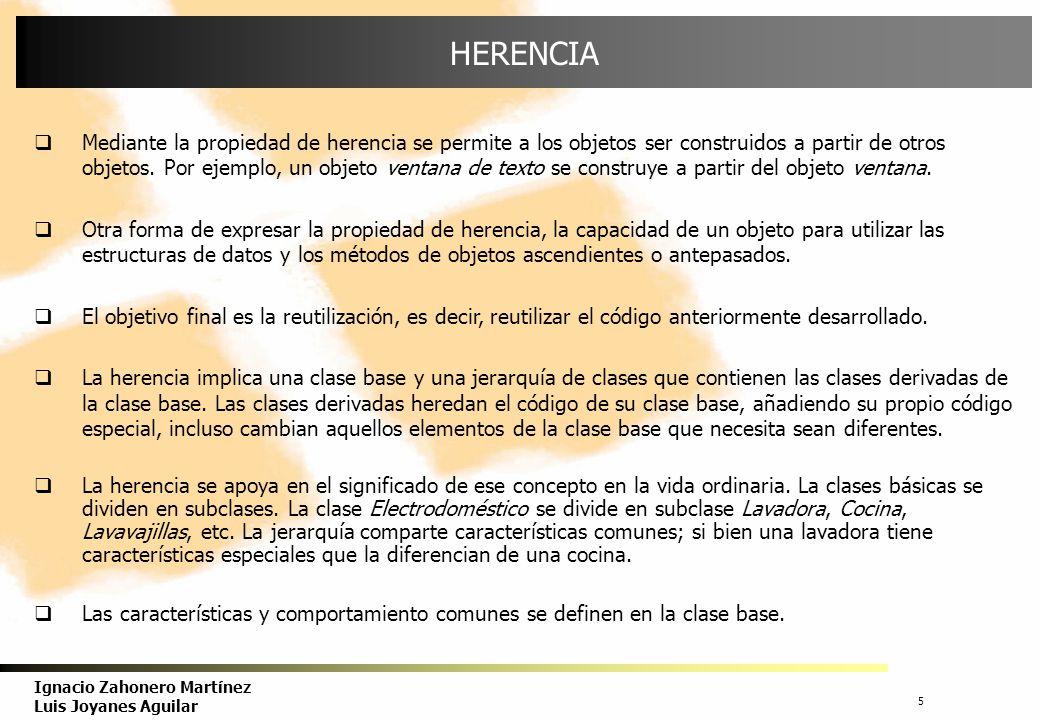 6 Ignacio Zahonero Martínez Luis Joyanes Aguilar TIPOS DE HERENCIA Hay dos de tipos de herencia: herencia simple y herencia múltiple.
