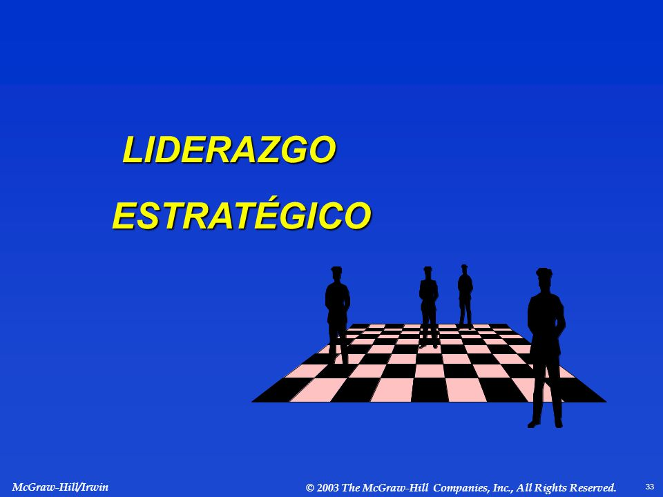 LIDERAZGO ESTRATÉGICO LIDERAZGO ESTRATÉGICO McGraw-Hill/Irwin © 2003 The McGraw-Hill Companies, Inc., All Rights Reserved.