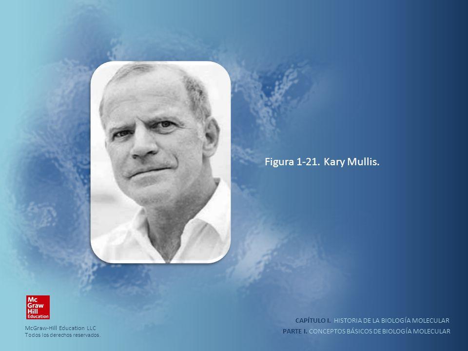 PARTE I. CONCEPTOS BÁSICOS DE BIOLOGÍA MOLECULAR CAPÍTULO I. HISTORIA DE LA BIOLOGÍA MOLECULAR Figura 1-21. Kary Mullis. McGraw-Hill Education LLC Tod