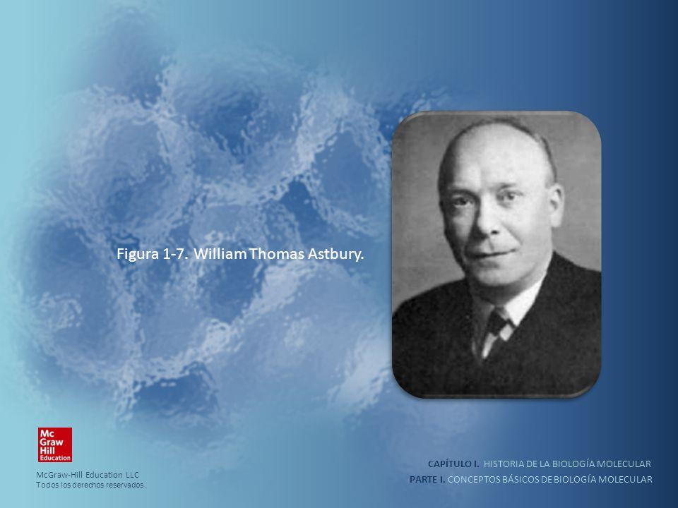 PARTE I. CONCEPTOS BÁSICOS DE BIOLOGÍA MOLECULAR CAPÍTULO I. HISTORIA DE LA BIOLOGÍA MOLECULAR Figura 1-7. William Thomas Astbury. McGraw-Hill Educati