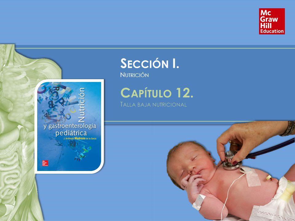S ECCIÓN I. N UTRICIÓN C APÍTULO 12. T ALLA BAJA NUTRICIONAL
