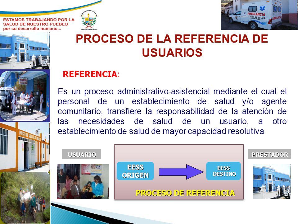 Es un proceso administrativo-asistencial mediante el cual el personal de un establecimiento de salud y/o agente comunitario, transfiere la responsabil
