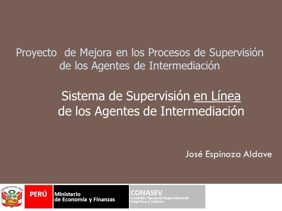 Agenda Proyecto de Supervisión en línea Objetivos.