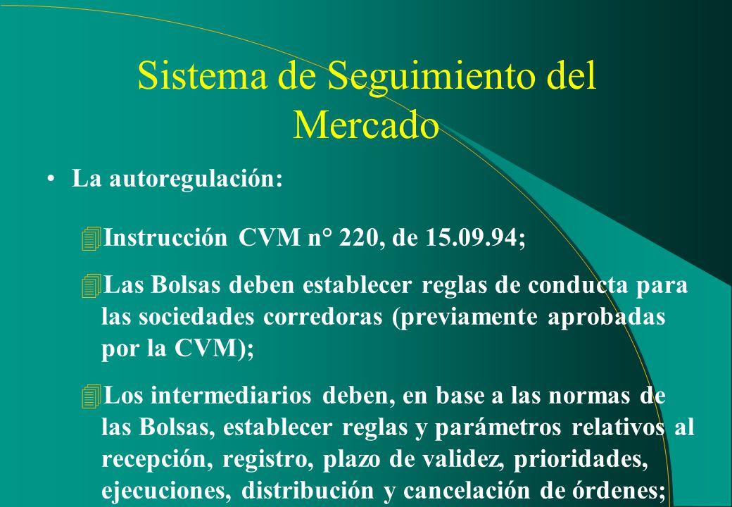Sumario Autoregulación Principios normativos Principales Valores Mobiliários de seguimiento; Resumen estadístico de negociación; Metodología del Segui