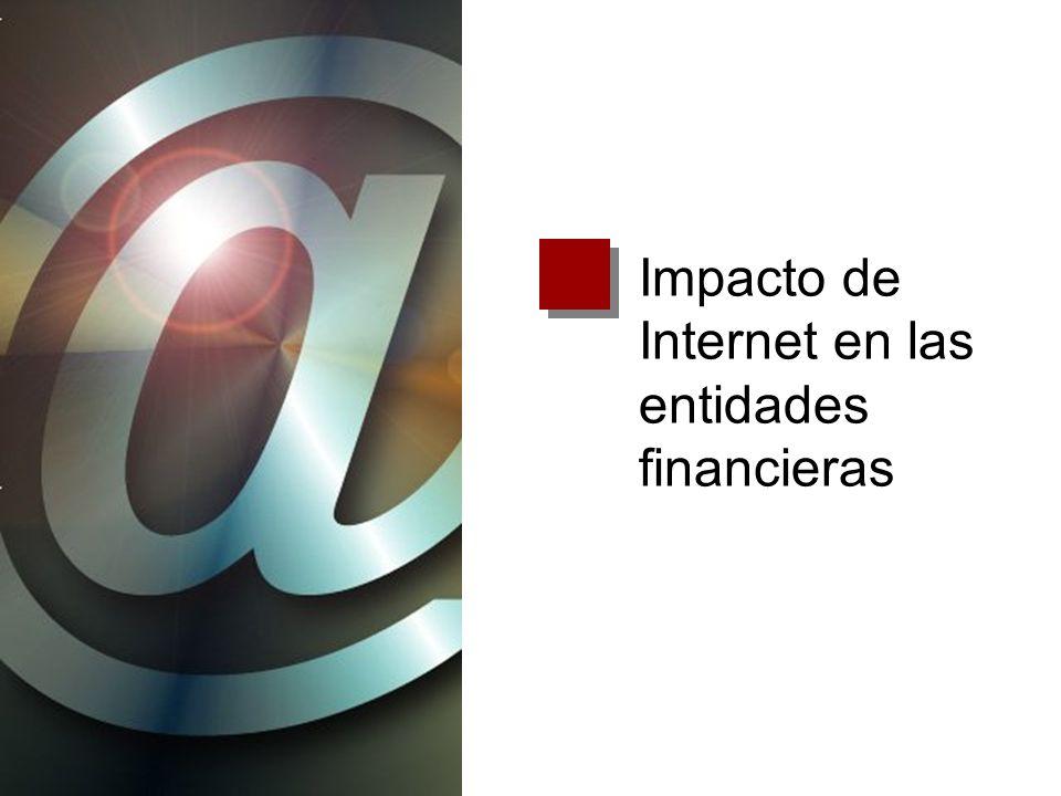 Aumento del poder del cliente Facilita la comparación entre entidades Posibilita la movilidad entre entidades Impacto de Internet en las entidades financieras