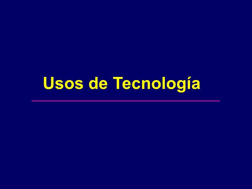 Usos de Tecnología