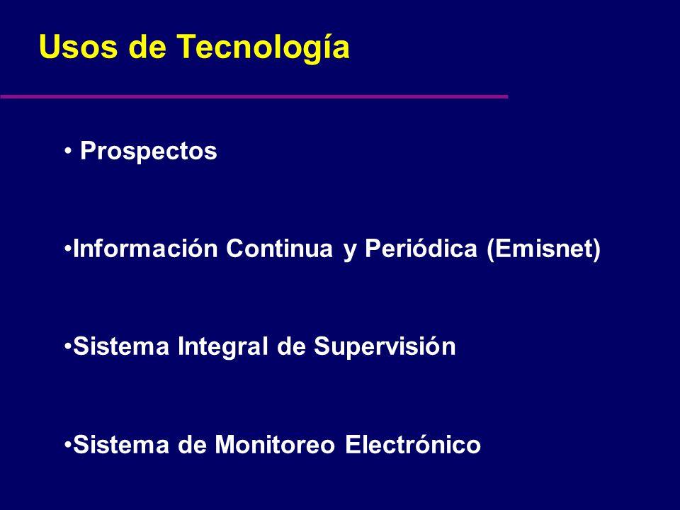 Prospectos Información Continua y Periódica (Emisnet) Sistema Integral de Supervisión Sistema de Monitoreo Electrónico
