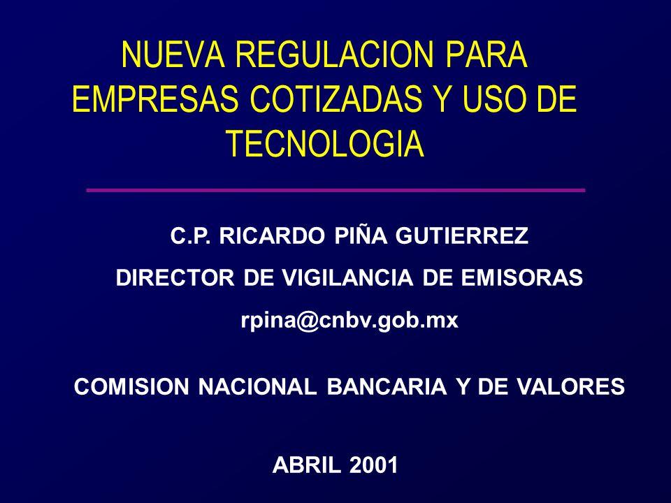 ABRIL 2001 COMISION NACIONAL BANCARIA Y DE VALORES C.P.
