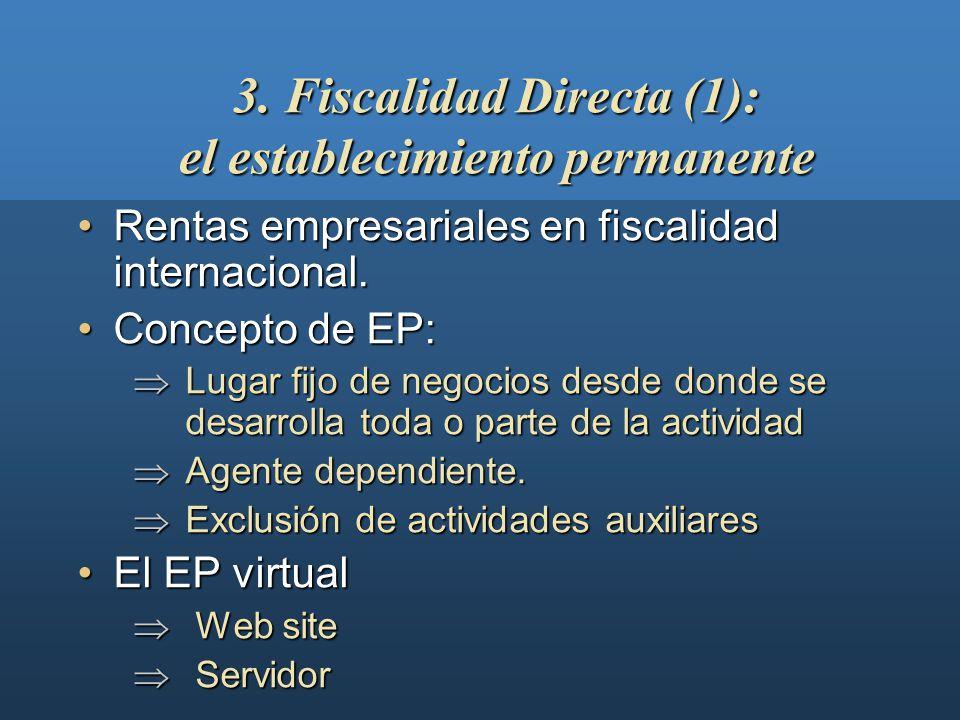 El establecimiento permanenteEl establecimiento permanente Los cánonesLos cánones Los precios de transferenciaLos precios de transferencia 3. Fiscalid