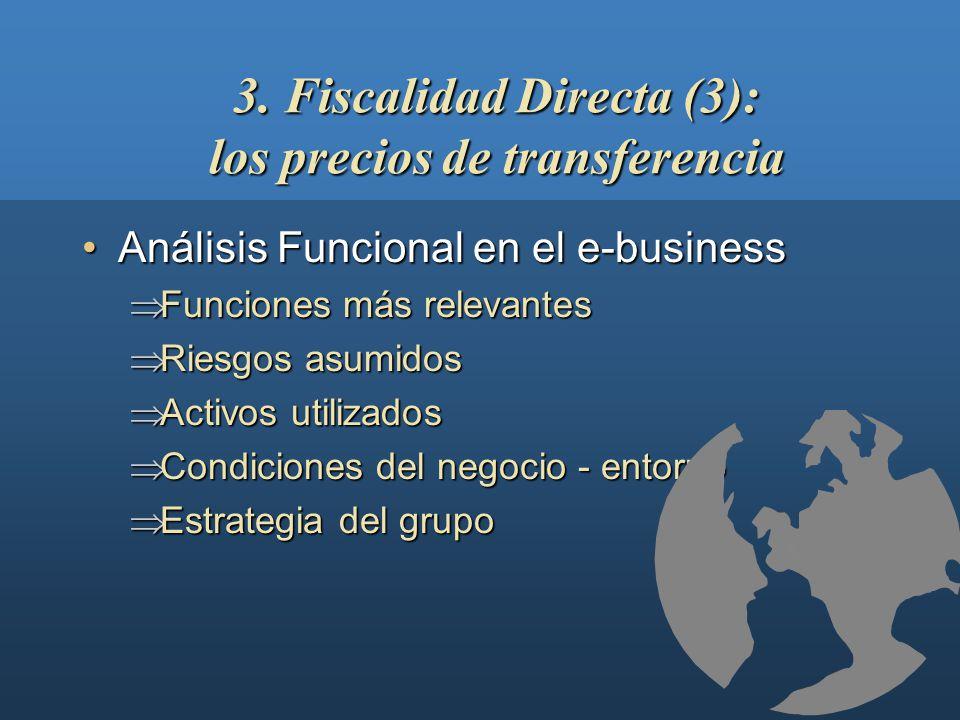 3. Fiscalidad Directa (3): los precios de transferencia Globalización económica:Globalización económica: Internacionalización Internacionalización Int