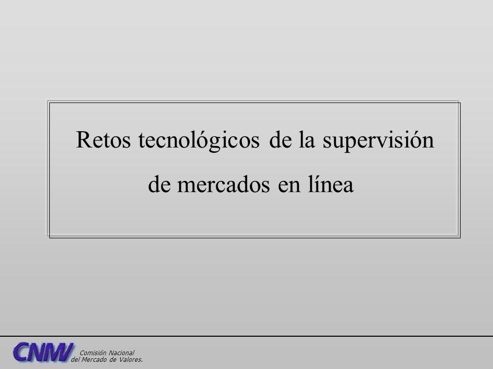 Retos tecnológicos de la supervisión de mercados en línea Comisión Nacional del Mercado de Valores.