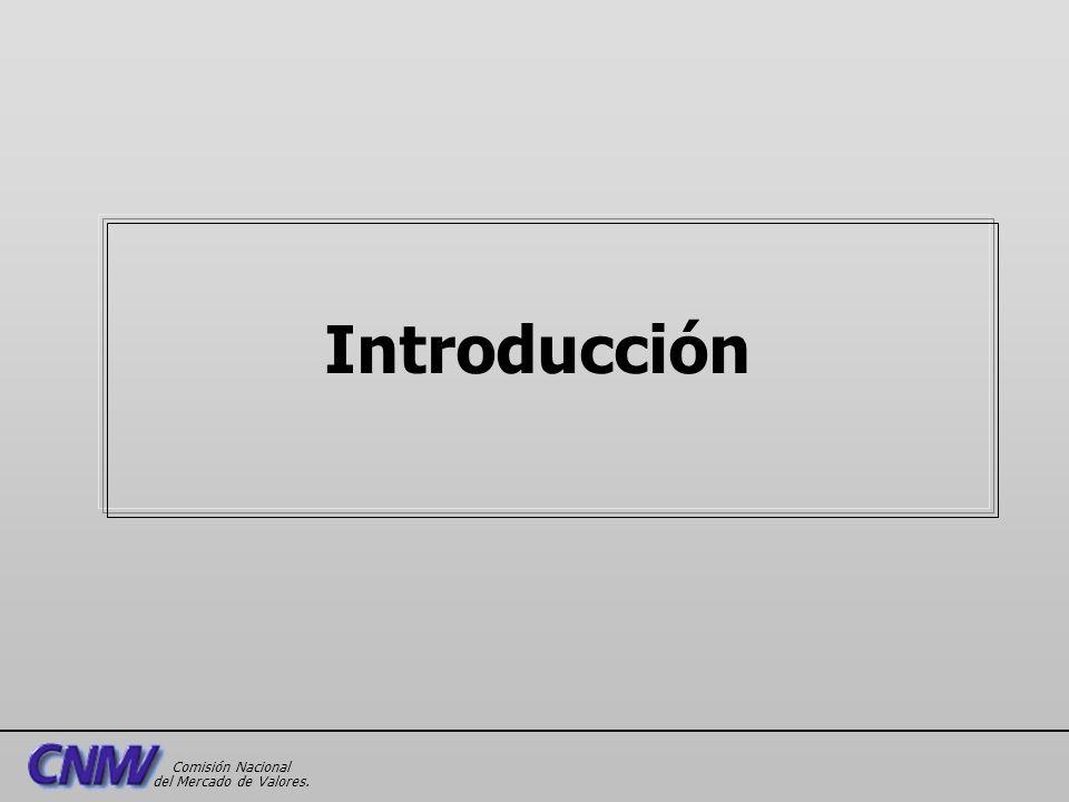 Introducción Comisión Nacional del Mercado de Valores.