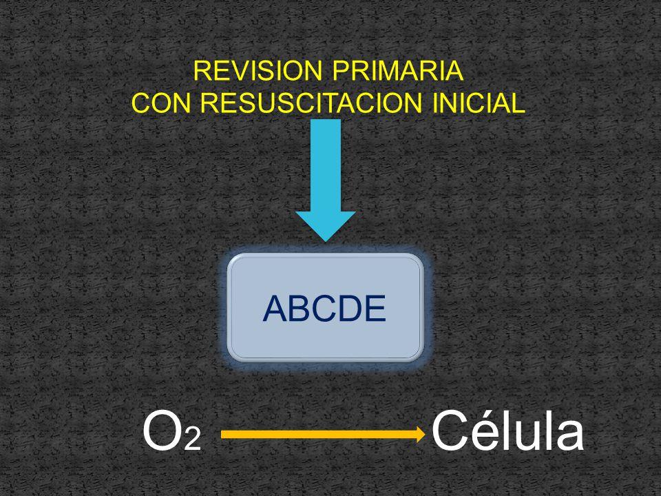 REVISION PRIMARIA CON RESUSCITACION INICIAL ABCDE O2O2 Célula