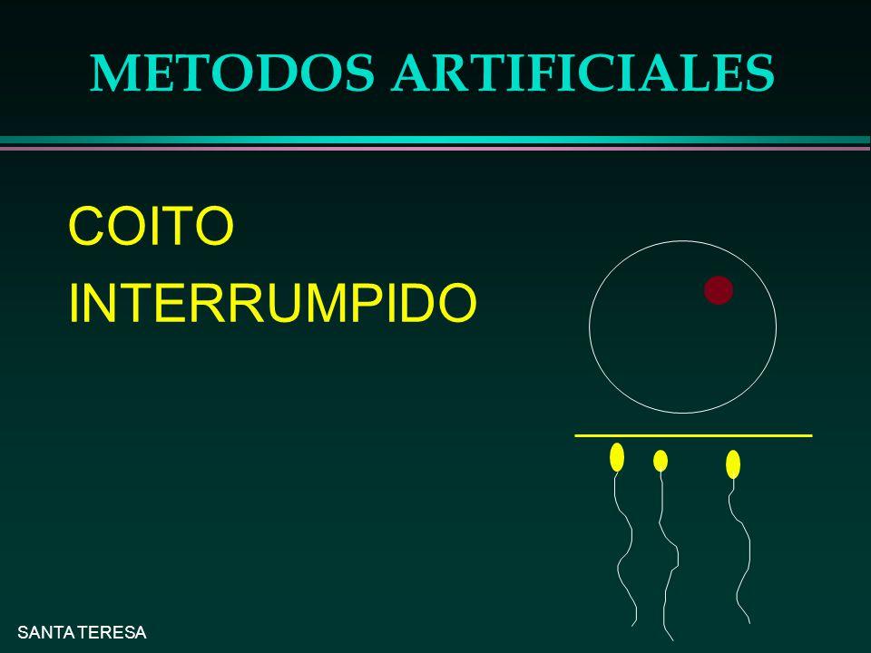 SANTA TERESA METODOS ARTIFICIALES COITO INTERRUMPIDO