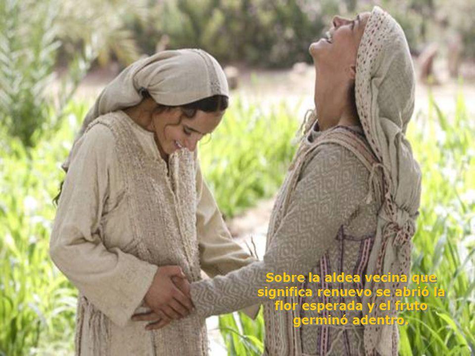 Ave gratia plena! dominus tecum, no tengáis miedo, hallaste gracia ante Dios, concebirás en tu seno al Hijo de Dios que viene para salvar a su pueblo.