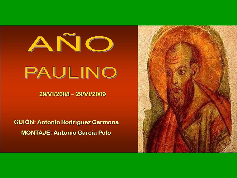 29/VI/2008 – 29/VI/2009 GUIÓN: Antonio Rodríguez Carmona MONTAJE: Antonio García Polo