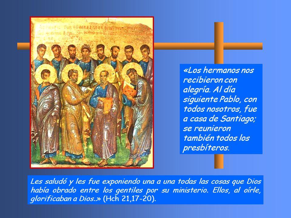 Les saludó y les fue exponiendo una a una todas las cosas que Dios había obrado entre los gentiles por su ministerio.