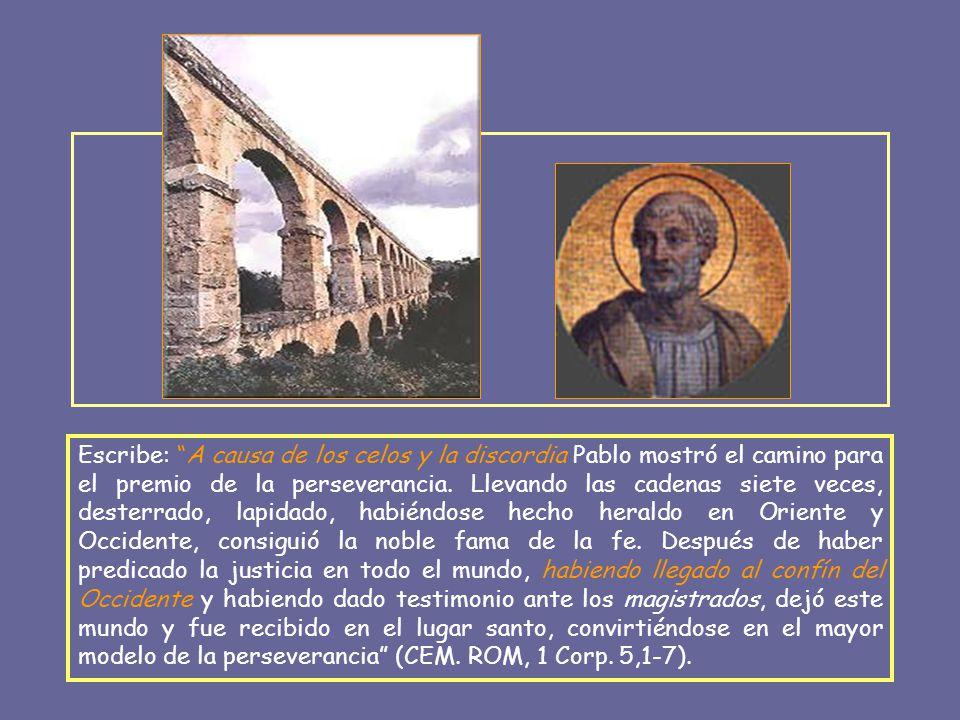 A favor de esta posibilidad está el testimonio de la 1 Carta de Clemente Romano, escrita en Roma entre 96-98, en la que se habla de la maldad de los celos y la envidia, motivo de la muerte de muchos, entre ellos de Pedro y Pablo.