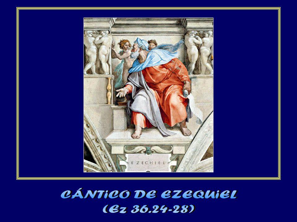 El cántico de Ezequiel se realiza plenamente en el nuevo Israel de Dios.