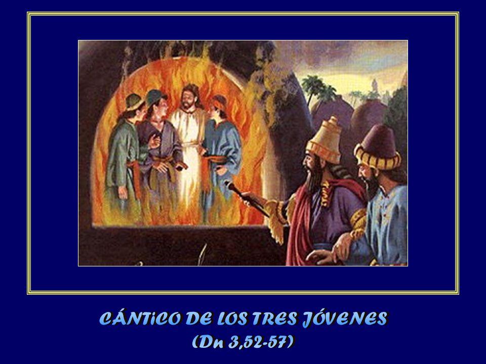 Bendito eres en la bóveda del cielo: a ti honor y alabanza por los siglos.