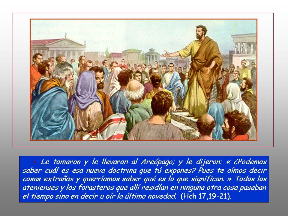 Unos decían: «¿Qué querrá decir este charlatán?» Y otros: «Parece ser un predicador de divinidades extranjeras. » Porque anunciaba a Jesús y la resurr