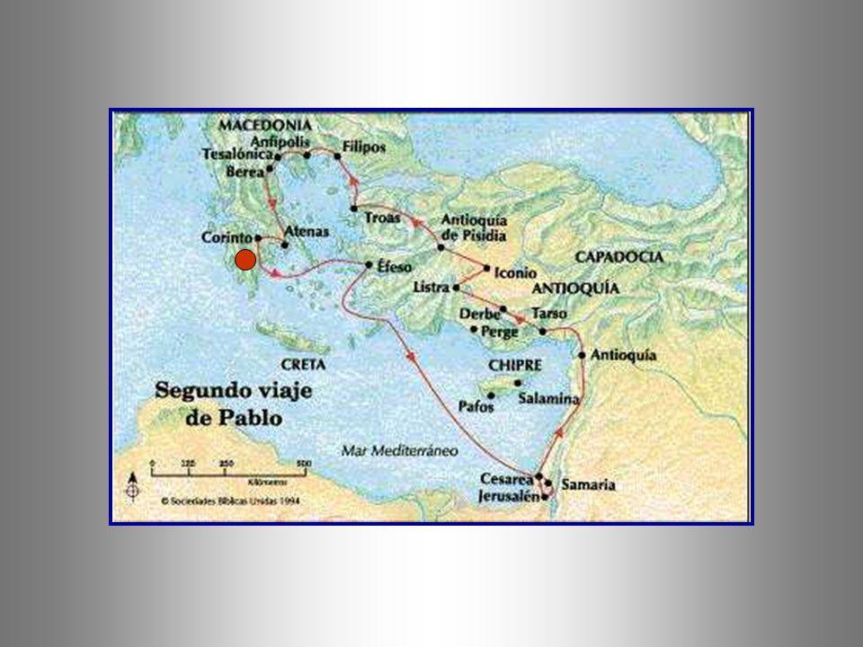 + Pablo pensaba esperar a Silas y Timoteo en Atenas, pero después de esta experiencia, decide abandonar la capital y dirigirse a Corinto, situada en e