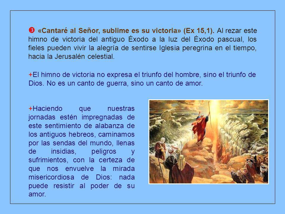 +Por eso, nuestro himno resuena de un modo especial en la liturgia de la Vigilia pascual, para destacar con la intensidad de sus imágenes lo que se ha realizado en Cristo.