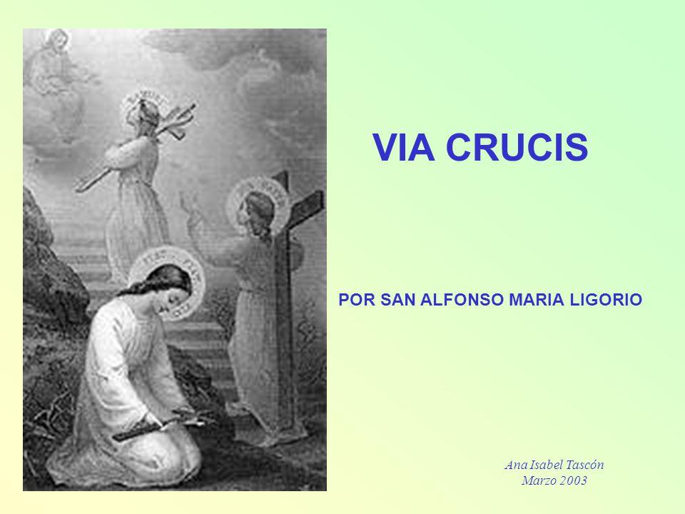 Primera Estación Jesús es sentenciado a muerte Considera cómo Jesús, después de haber sido azotado y coronado de espinos, fue injustamente sentenciado por Pilato a morir crucificado.