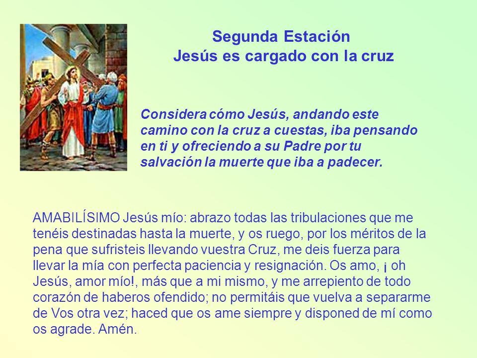 Tercera Estación Jesús cae por primera vez Considera esta primera caída de Jesús debajo de la Cruz.